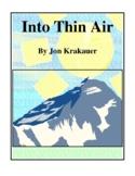 Novel Study, Into Thin Air (by Jon Krakauer) Study Guide
