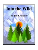 Novel Study, Into the Wild (by Jon Krakauer) Study Guide