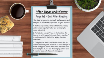 After Tupac and Dfoster Novel Study Jacquelin Woodson Lessons & Student Packet