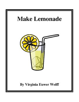 Novel Study, Make Lemonade (by Virginia Euwer Wolff) Study Guide