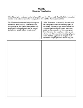 Novel Study, Matilda (by Roald Dahl) Study Guide