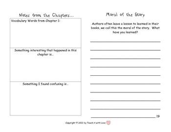 Novel Study - Mini Booklet