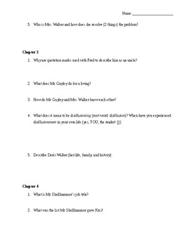 Novel Study: Miracle on 34th Street by Valentine Davies Chapters 1 - 5 Questions