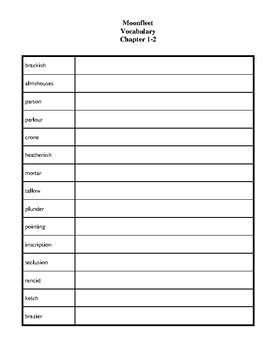 Novel Study, Moonfleet (by J. Meade Falkner) Study Guide