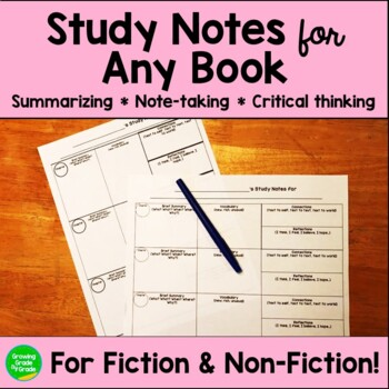 Novel Study For Any Book