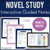 Novel Study Pixanotes® ~ for ANY Novel!