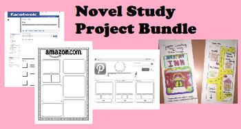 Novel Study Project & Rubric Bundle (Facebook, Amazon, Pinterest, iPod, Hotel)