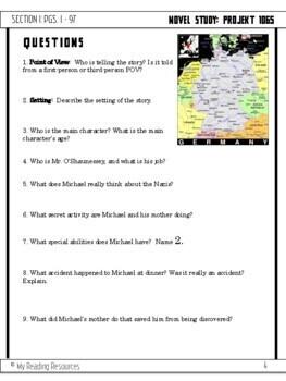 """Novel Study """"Projekt 1065 A Novel of World War II"""" by Alan Gratz"""