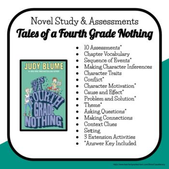 Novel Study & Quizzes Packet: Tales of a Fourth Grade Nothing