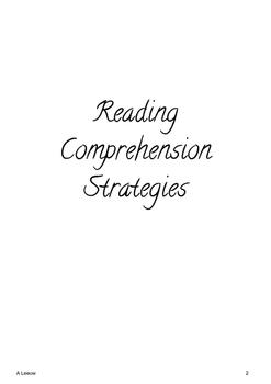 Novel Study - Reading Comprehension Strategies