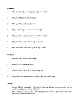 Novel Study, Shiloh (by Phyllis Reynolds Naylor) Study Guide