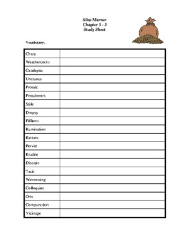 Novel Study, Silas Marner (by George Eliot) Study Guide