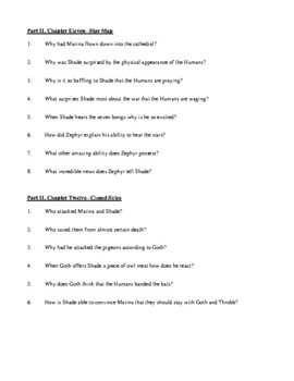Novel Study, Silverwing (by Kenneth Oppel) Study Guide