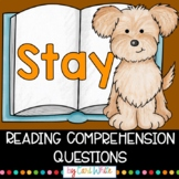 Reading Comprehension Novel Study | Stay by Bobbie Pyron