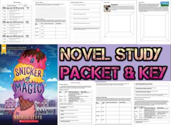 Novel Study Student Packet & Key - A Snicker of Magic (Lloyd) - W