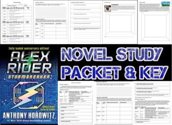 Novel Study Student Packet & Key - Alex Rider Stormbreaker (Horowitz) - Level Z