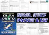 Novel Study Student Packet & Key - Alex Rider Stormbreaker