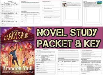 Novel Study Student Packet & Key - Candy Shop War (Mull) - Level W