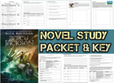 Novel Study Student Packet & Key - Percy Jackson Lightning Thief (Riordan) - W
