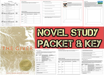 Novel Study Student Packet & Key - The Giver (Lowry) - Y