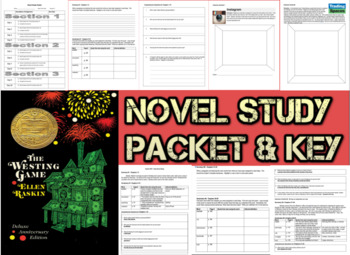 Novel Study Student Packet & Key - The Westing Game (Raskin) - V
