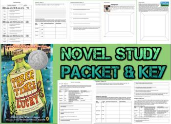 Novel Study Student Packet & Key - Three Times Lucky (Turn
