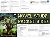 Novel Study Student Packet & Key for Bridge to Terabithia (Paterson) - Level T
