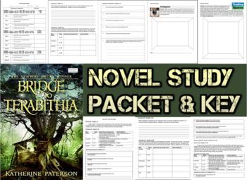 Novel Study Student Packet & Key for Bridge to Terabithia (Paterson) - Level T