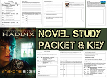 Novel Study Student Packet and KEY for Among the Hidden by