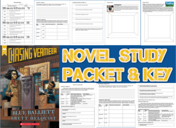 Novel Study Student Packet and KEY for Chasing Vermeer (Ba