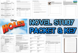 Novel Study Student Packet and KEY for Holes by Louis Sachar - Level V