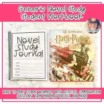 Novel Study Student  Workbook FOR ANY NOVEL - Grades 4-8