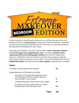 Novel Study: Symbolic & Graphic Illustration - Extreme Makeover: Bedroom Edition