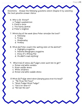 Novel Study-  Tales of a Fourth Grade Nothing