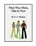 Novel Study, That Was Then, This Is Now (by S.E. Hinton) Study Guide