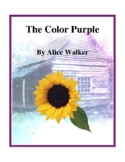Novel Study, The Color Purple (by Alice Walker) Study Guide