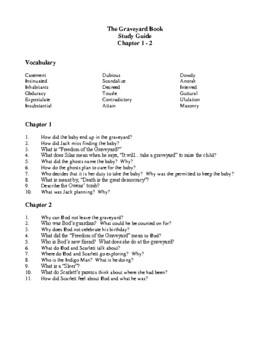 Novel Study, The Graveyard Book (by Neil Gaiman) Study Guide