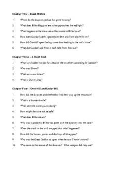 the hobbit novel study guide