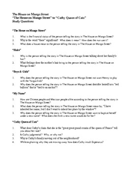 Novel Study, The House on Mango Street (by Sandra Cisneros) Study Guide