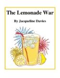 Novel Study, The Lemonade War (by Jacqueline Davies) Study Guide