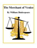 Novel Study, The Merchant of Venice (by William Shakespeare) Study Guide