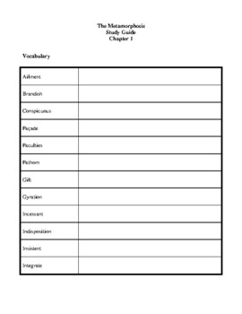 novel study the metamorphosis by franz kafka study guide tpt rh teacherspayteachers com Respiratory System Worksheet Answer Key Worksheets with Answer Keys