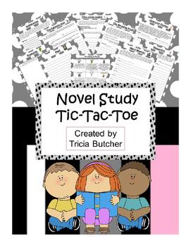 Novel Study Tic-Tac-Toe for Junior Grades