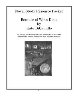 Novel Study Unit, Because of Winn Dixie