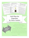 5th/6th/7th Grade Unit Plan for The Paperboy by Vince Vawt