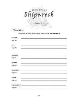 Novel Study Unit: Shipwreck - Book #1 (Gordon Korman)