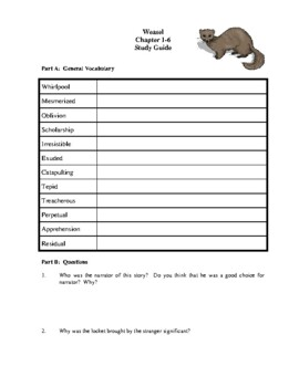 Novel Study, Weasel (by Cynthia DeFlice) Study Guide