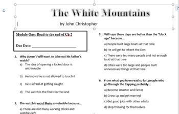 Novel Study: White Mountains (The Tripods)