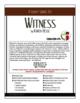 Novel Study Witness by Karen Hesse - includes DIGITAL file options