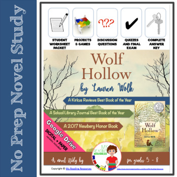 Novel Study: Wolf Hollow by Lauren Wolk -- includes DIGITAL file options
